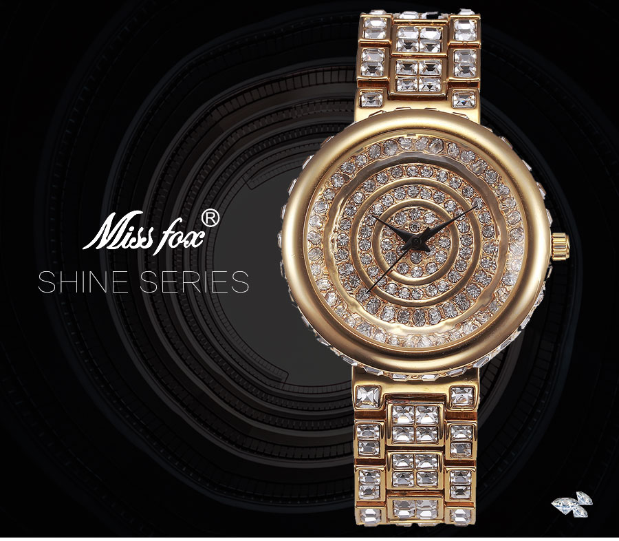 2018 de Ouro De Luxo Relógios de