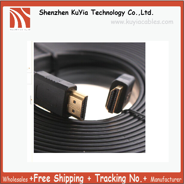 10M/33FT Full 1080P 3D Flat HDMI Cable 1.4 for XBOX /PS3 HDTV HDMI 1.4 Male to Male Digital Cable Free shipping