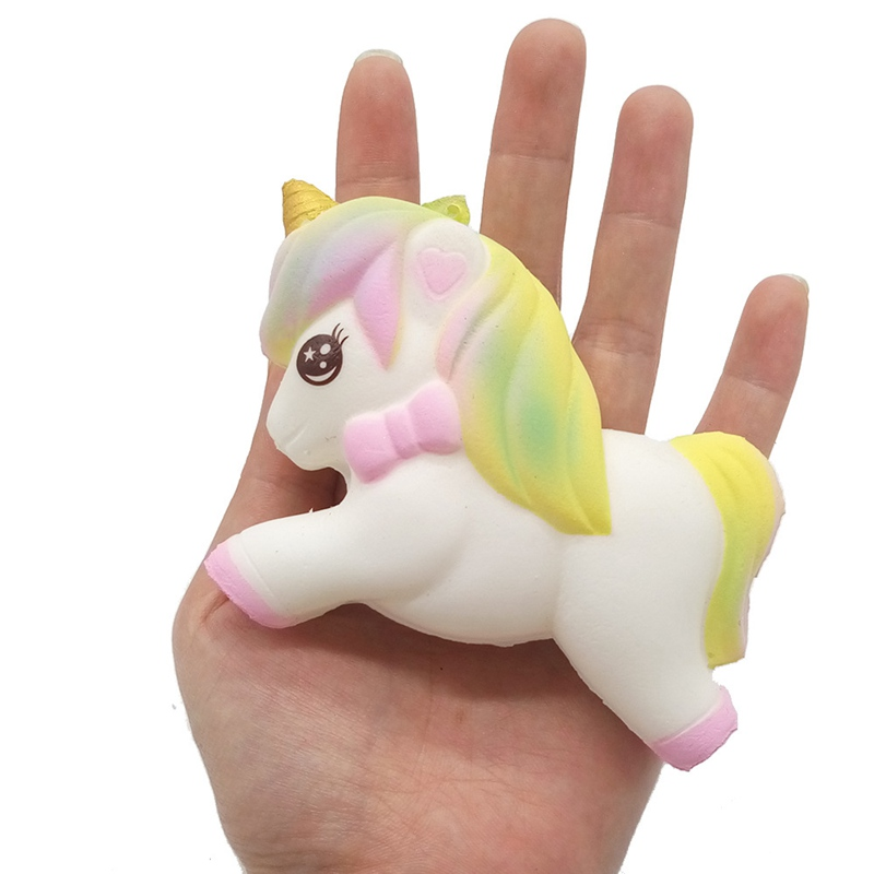 Squishy Pegasus Anti-stress Toys For Children SquishFun Gags Practical Jokes Squeeze Toy Gift  Stress Relief Novelty Gag Toys