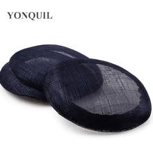 Темно 15 см sinamay База пиллбокс с grossgrain sweatband для чародей DIY Свадебные шапки Кентукки Дерби шляпы высокого качества MYQH1N