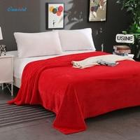 Ouneed Flannel Blanket 180*200cm Fleece Blankets On Sofa/Bed/Plane Travel Plaids Bedding Set Washable Super Soft Warm Blanket