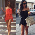 Women Celeb Sexy Mini Playsuit Ladies Jumpsuit Summer Shorts Beach Sundress 6-18