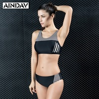2017 New Listing High Waist Bikini Women Bodysuit Padded Movement Trend Bathing Suit Beach Sports Push
