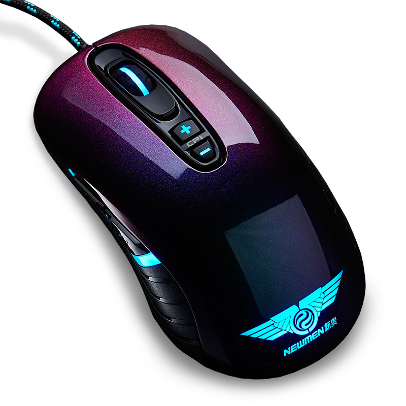 100% original Newmen GX1-Pro Professional Gaming Optical Mouse chameleon luminous LOL / CF e-sports mice ...