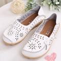 Женщины плоские туфли натуральная кожа вырез плоским медсестра обувь женщина случайные дышащий slip-on мокасины обувь женщины