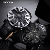 Sinobi Mens Sports Watches S Shock Quartz Watches Creative Eagle Claw Man Leather Military Waterproof Watches