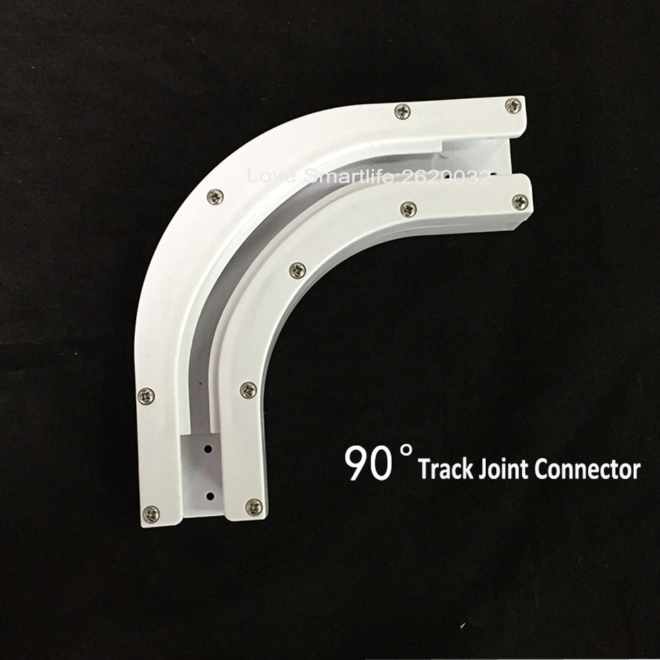 High Quality Dooya 90135 Degree Electric Curtain Track Rail Joint Bracket Connector for U Type L Type Window Track Accessories