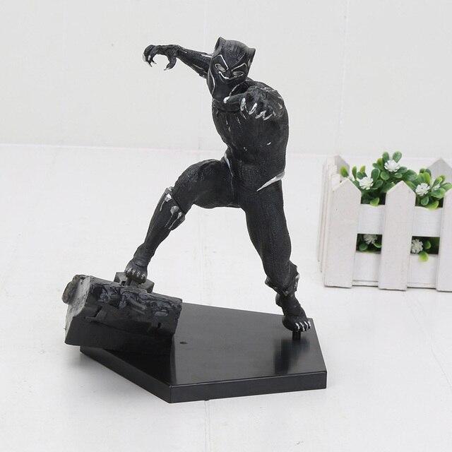17 cm Pantera Negra de Super-heróis Os Vingadores Ação PVC Figura Toy
