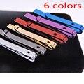 Nuevos Diseñadores 6 Colores Calientes Formal Corbata Tie Clip para hombres Flacos lazo Brillante Barra de Acero Inoxidable de la Boda Pasadores de Corbata accesorios