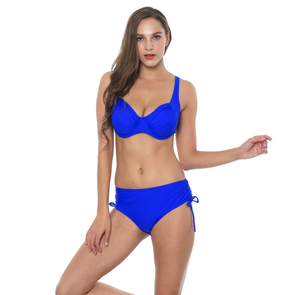 HTB1JfLpShnaK1RjSZFtq6zC2VXai Polovi Sexy Feather Plus Size Swimwear Women Push Up Swimsuit Large Size Striped Mid Waist Bikinis De Las Mujeres 2019 Beachwear