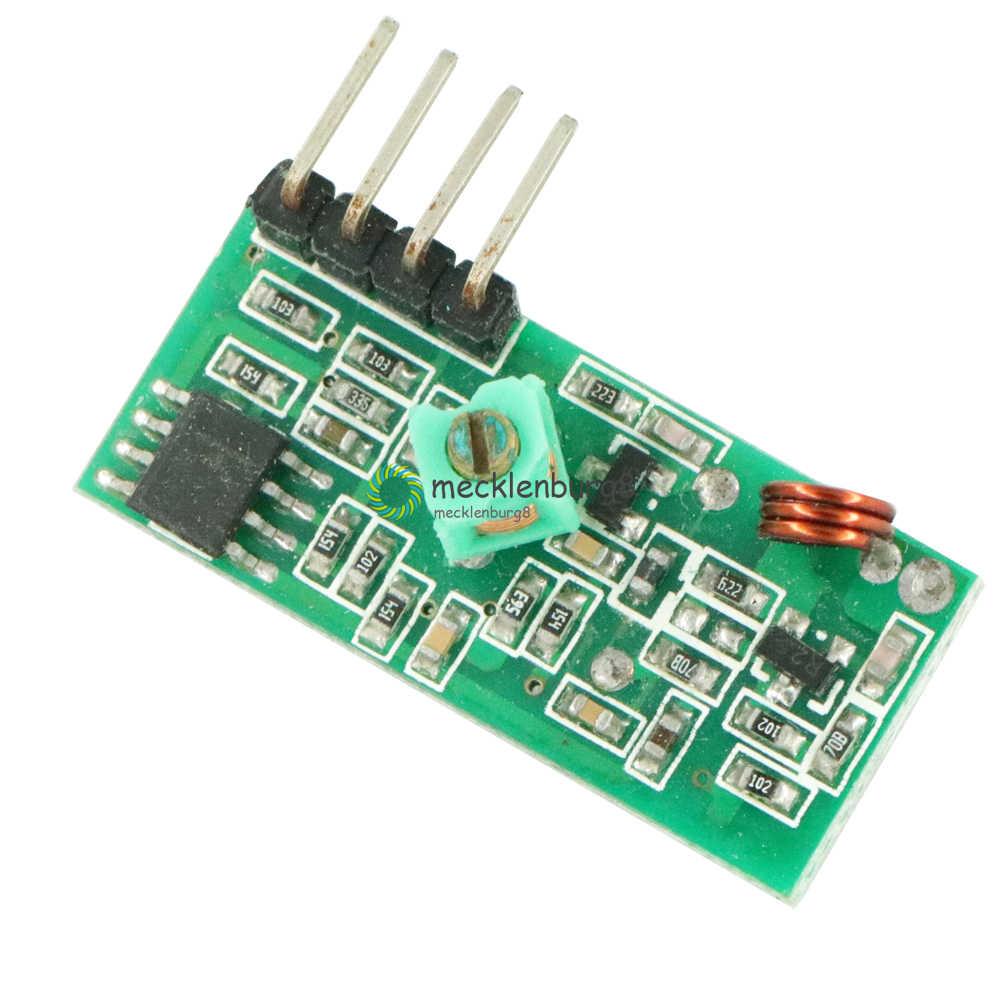 433 MHZ RF Transmitter dan Receiver Modul Link Kit Untuk Lengan/MCU WL DIY 315 M Hz/433 M Hz remote Kontrol Nirkabel untuk Arduin