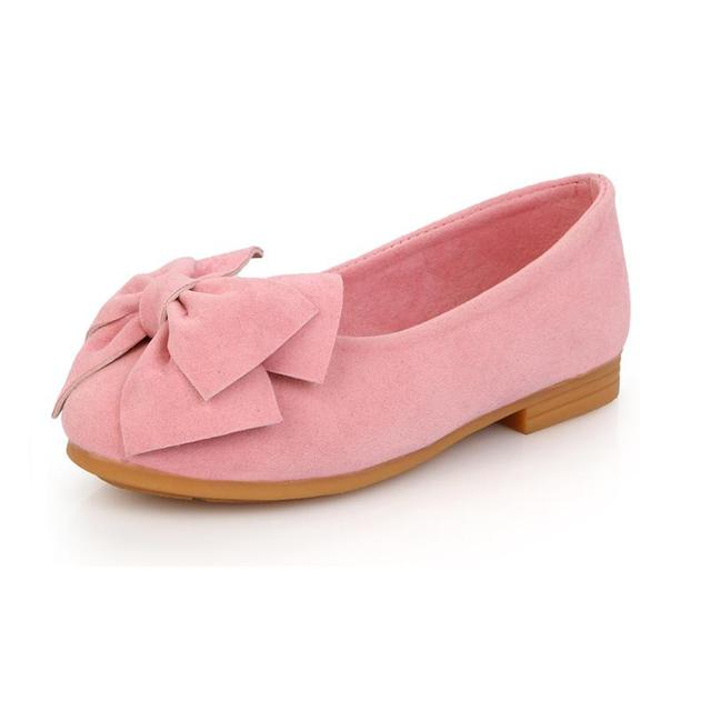 baby girls shoes artificial leather shoes girls flats suede leather little  girl s shoes princess big butterfly-bow 44b2d79a1