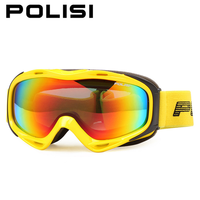 4604c3c0655 POLISI Men Women Ski Snowboard Goggles Double Layer Anti-Fog Lens  Snowmobile Skate Glasses Polarized Winter Snow Skiing Eyewear