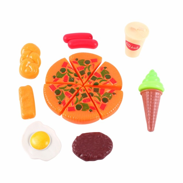 Multicolor Play Food Set (13 Pieces)