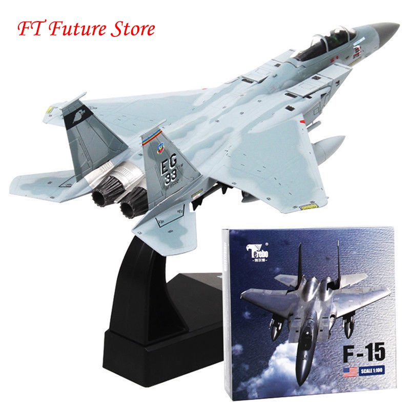 For Collection 1/100 Scale F-15 Eagle Aircraft Alloy Diecast Model U.S Air Force Tactical Fighter Aircraft Plane Model Toy Gifts image