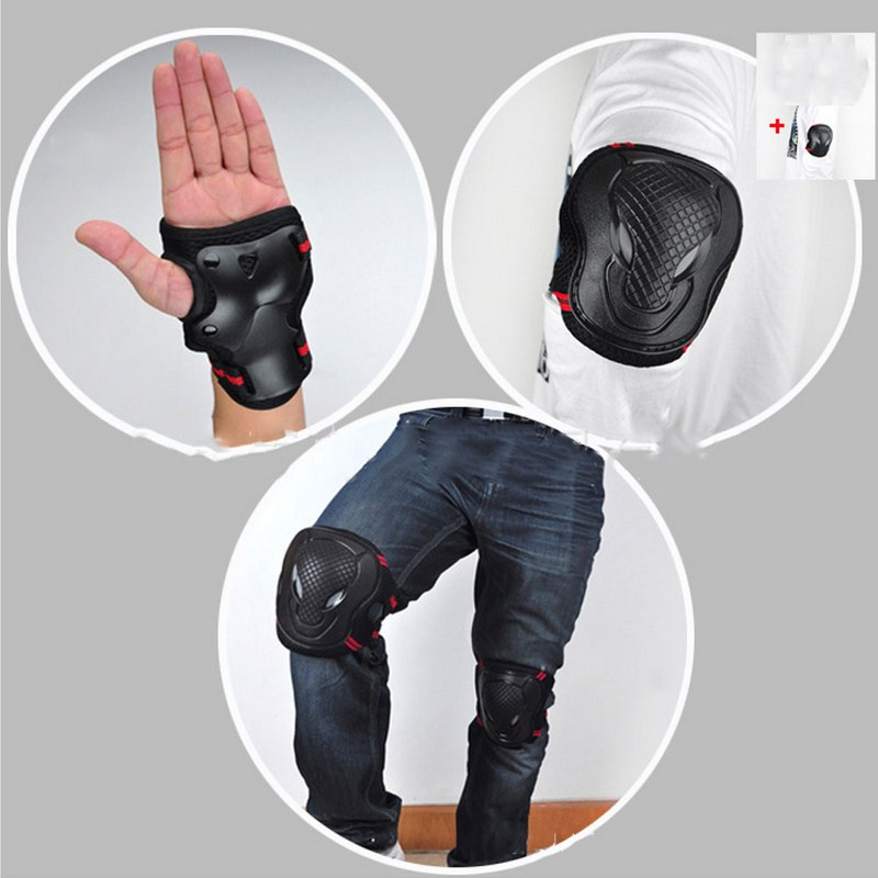 6pcs/Set Sports Safety Set Knee Pads Elbow Pads Wrist Protector Kneecap Kneepads Protection for Scooter Cycling Roller Skating Браслет