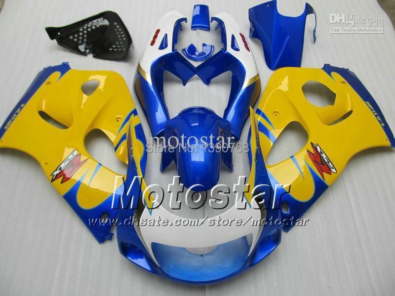 7 подарки желтый синий ABS обтекатель комплект для Suzuki GSXR 600 750 1996 1997 1998 1999 2000 системы GSX-r600 о системы GSX-750 рандов GSXR600 GSXR750 SRAD 96 9
