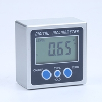Mini Digital Inclinometer Electronic Protractor Magnetic Base 360 Degrees LCD Bevel Box Level Measuring Tool Angle