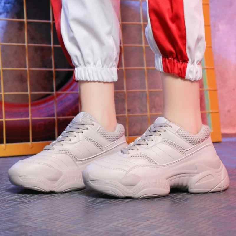 Taoffen สตรีรองเท้าผ้าใบรองเท้าผ้าใบแฟชั่นสีขาว Vulcanized รองเท้าผู้หญิง Lace Up รอบ Toe Breath Air ตาข่ายรองเท้าวิ่งรองเท้าขนาด 35-39