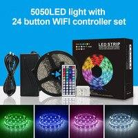 Neueste 5050LED Licht Streifen mit 24 Taste Controller Set 5M Mobile Wifi App Smart Control-in LED-Streifen aus Licht & Beleuchtung bei