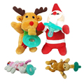 Pacificador del bebé Animales de Peluche de Juguete Infantil Del Bebé chupetes divertidos de silicona bebé chupete Alimentación Herramienta Segura Pezones Pezón regalo de Navidad