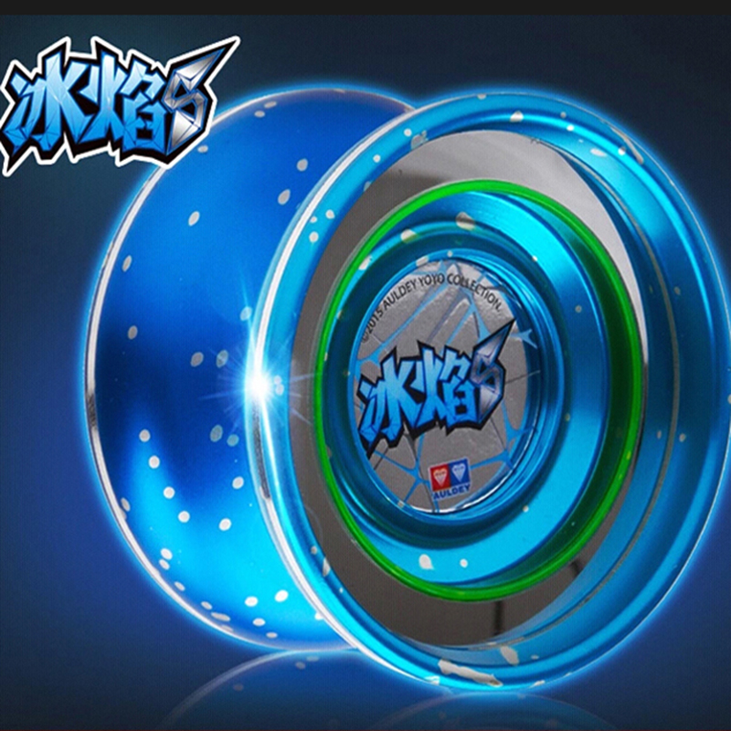 Auldey Froze Blaze S yoyo Yoyo Flammande Tonåringar: Legendarisk Warrior - Ice Blowing S metal yoyo med LED Light Emitting Assembly