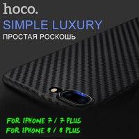 HOCO Original Protective Case for iPhone 7 8 / 7 8 Plus Carbon Fiber Patern Ultra Thin Slim Cover Stylish Premium Luxury Shell