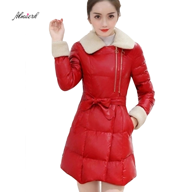 New winter women s cotton jacket women s down cotton sweater collar cotton jacket Ms. medium - length solid cotton coat f136