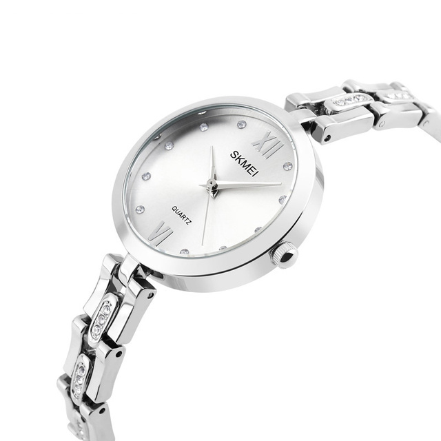 SKMEI Fashion Watches Women Luxury Brand Stainless Steel Bracelet watches Ladies
