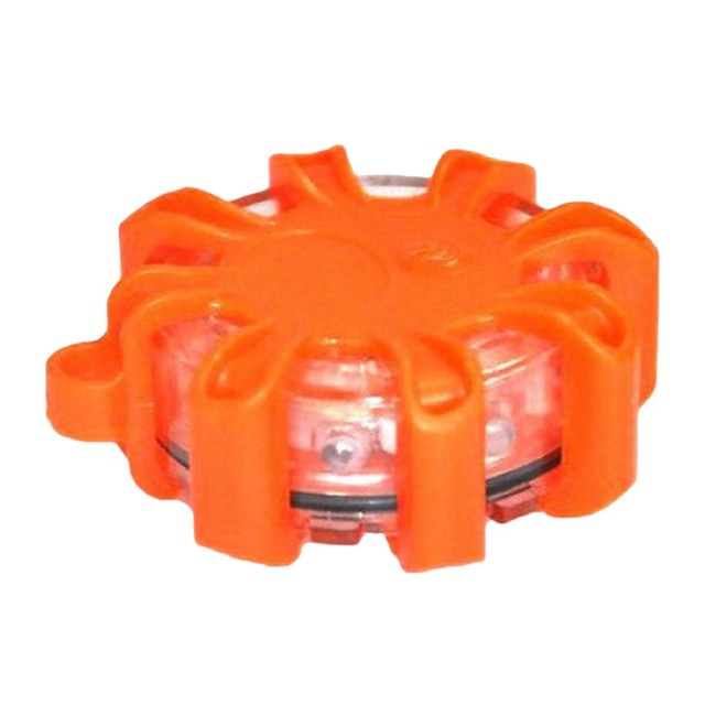 Lampe clignotante de balise de route de lumières de bord de route de secours de 8 * LED avec la Base magnétique pour la couleur aléatoire de bateau marin de voiture