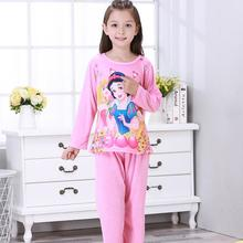 WAVMIT Girl Sets Palace Princess style Children Pajama Sets Cotton Kids Pijamas Set 3-14Y Sleepwear Girls Pyjama Lovely Clothing
