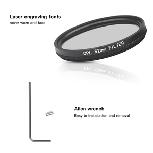 Image 4 - SHOOT 52mm Black Mental Glass Circular Polarizing CPL Lens Filter Set with Filter Adapter for GoPro Hero 7 6 5 Go Pro Action Cam