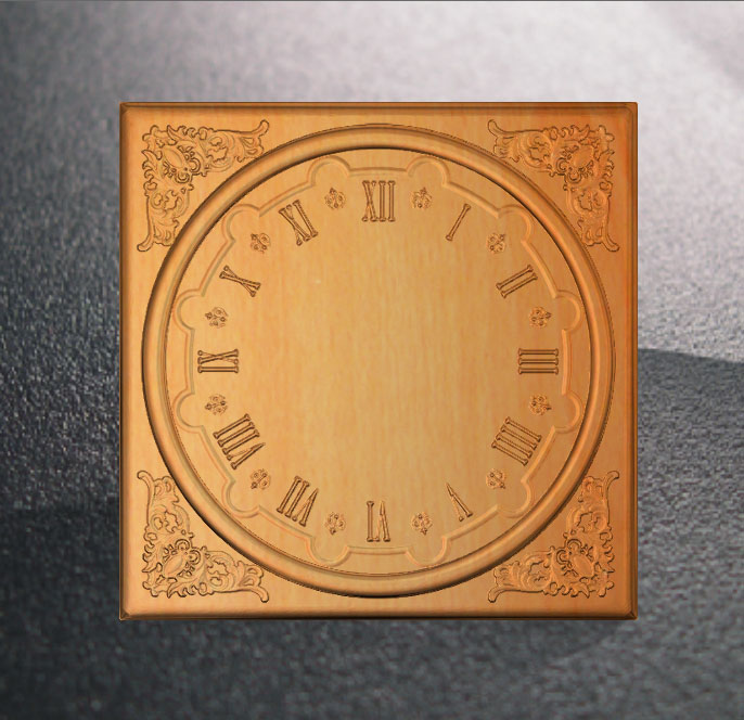 Clock 3D Relief STL Model For Cnc Router Carving Engraving Artcam Type3 Aspire C4