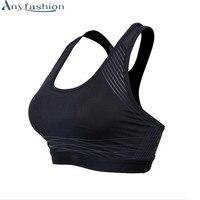 Anyfashion kadınlar seksi yoga gömlek yastıklı spor bra push up kablosuz kuru fit tank koşu fitness salonu için bras tops