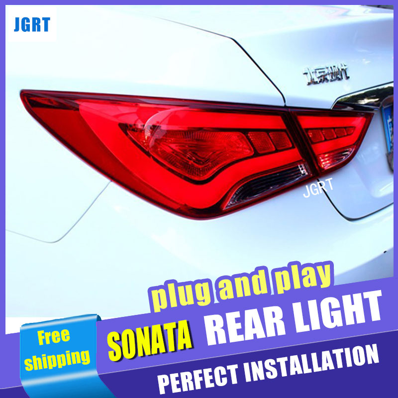 Car Styling Accessories for Hyundai Sonata LED Taillights 2011-2014 Sonata 8 Tail Light Rear Lamp DRL+Brake+Park+Signal