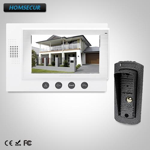 HOMSECUR 7'' Wired Video Door Phone IR Camera+ RU Warehouse +Russia User Manual TC041+TM701-W