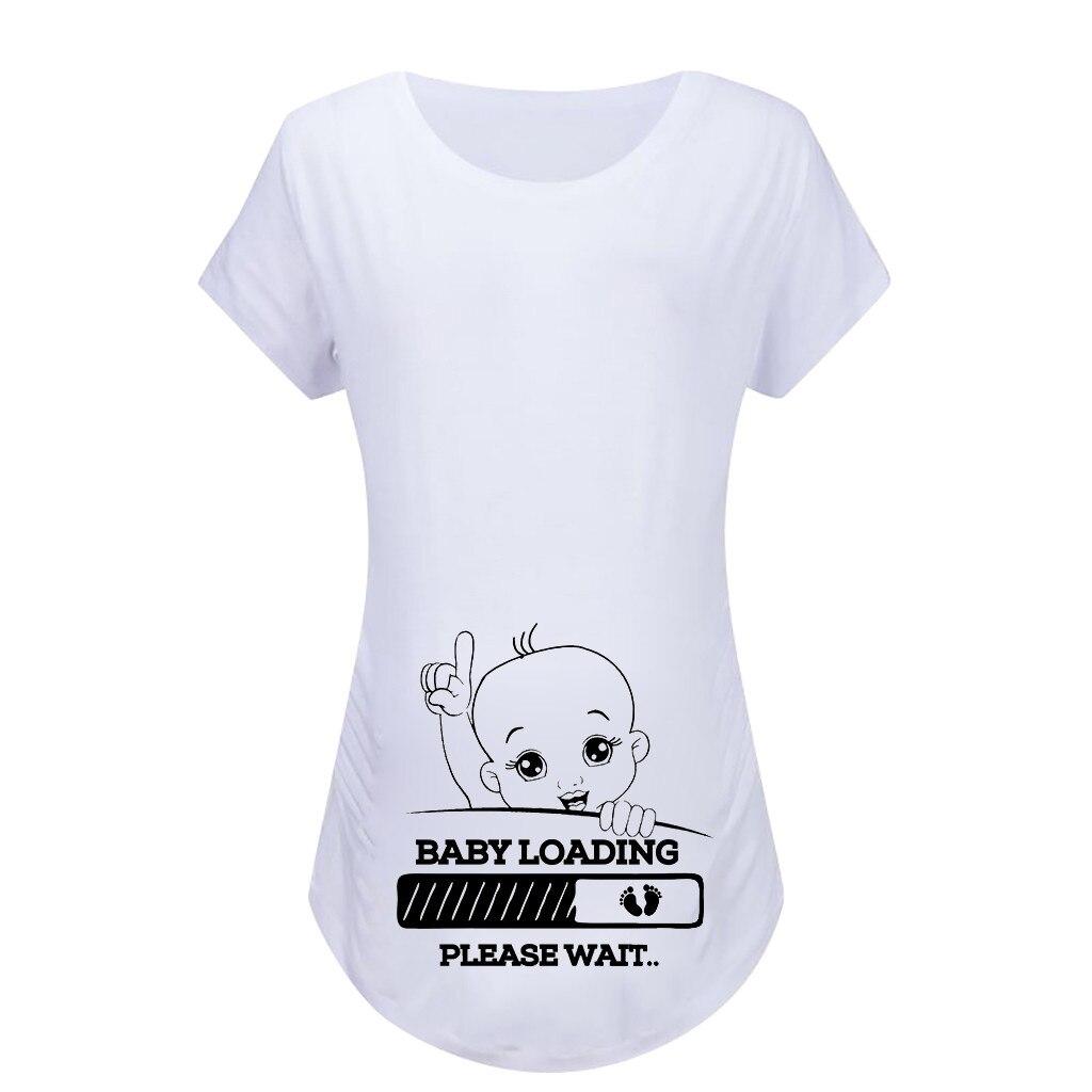 100% QualitäT Frauen Mutterschaft Kurzarm Cartoon Print Tops T-shirt Schwangerschaft Kleidung Kleidung Für Schwangere Frauen Mutterschaft Ropa Mujer Neue