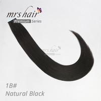 Mermaid 1B# Remy Hair Extensions Tape 16 18 20 22 Real Human Hair Straight Bundle Black Hair MRS HAIR Double Drawn