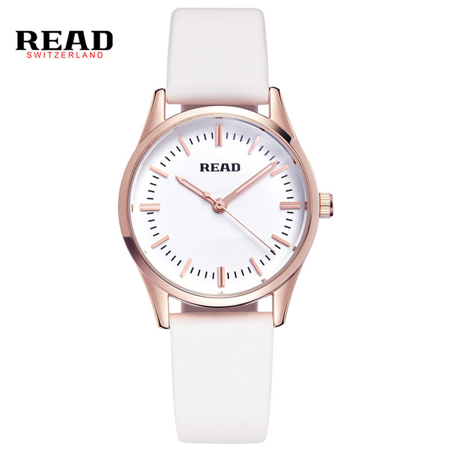 READ Эксклюзивная Модная Женщины Часы Женщины Кожа Кварцевые Наручные Часы Дамы Платье Часы Reloj Mujer Montre Femme часы R28007