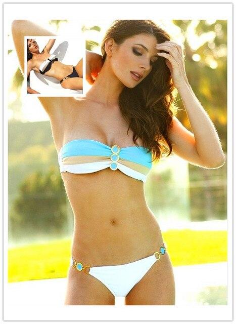 Girl With Green Bikini Strips