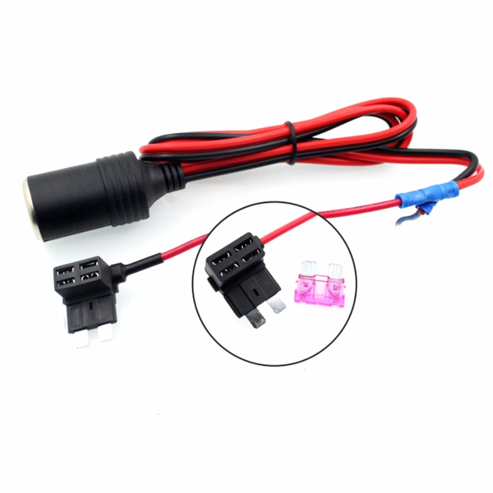 15mm Cigarette Lighter Female Socket With 1m Cable Car Fuse Box Cables Holder For Mini Small Medium Auto In From Automobiles