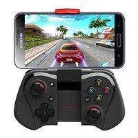 Con caja PG-9033 IPEGA Bluetooth Wireless Controller Teléfono Inteligente para iOS/Tablet PC Android TV BOX (negro)-negro + Rojo