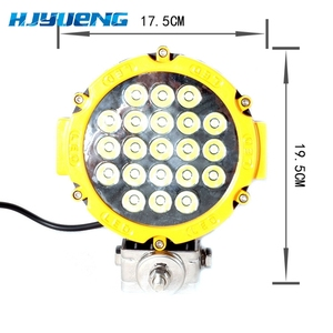 Image 2 - 1PCS Black / Red / Yellow offroad Led Work light 7inch 63w Led Driving Light Spot Beam for atv suv 4x4 truck vehicle