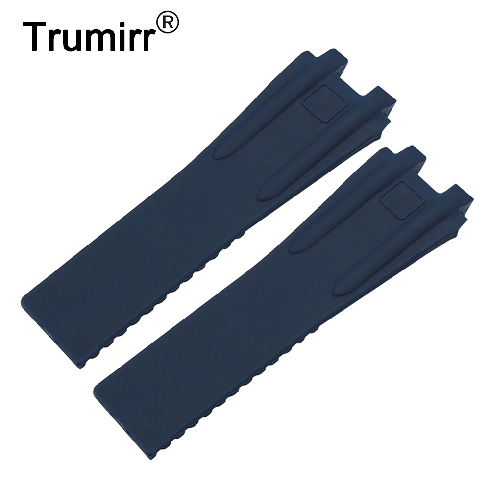 Soft Silicone Rubber Watchband 26mm for Ulysse Nardin EXECUTIVE 243 Man Watch Band Steel Butterfly Buckle Wrist Strap Blue Black silicone rubber watchband double side wearing strap for armani ar watch band wrist bracelet black blue red 21mm 22mm 23mm 24mm
