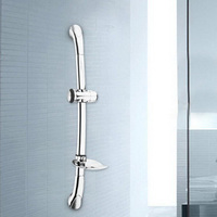 Lift Shower Shower Lifting Bar Silver Stainless Steel Shower Lifting Stalk 61cm Stainless Steel Rod Sliding