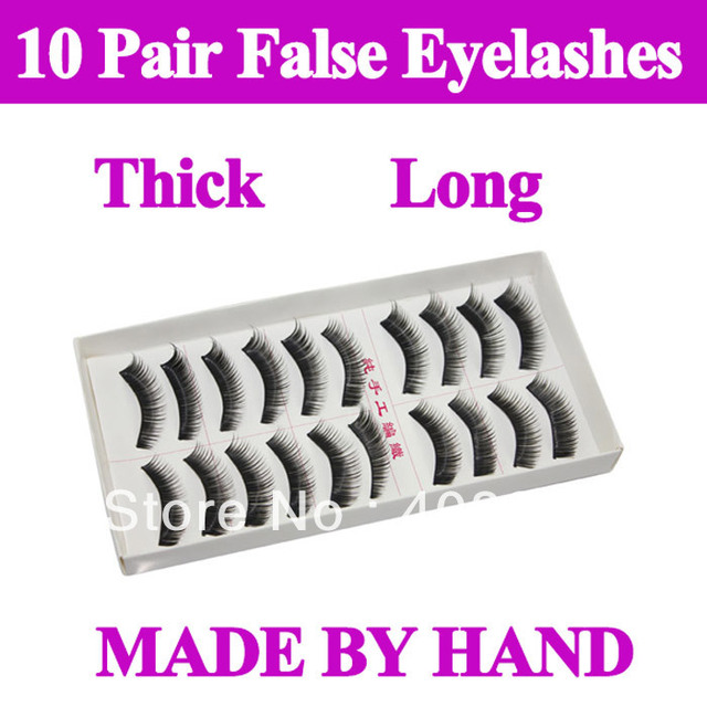 2*10 Pairs Thick Long False Eyelashes Eyelash Eye Lashes Voluminous Makeup original package  free shipping dropshipping