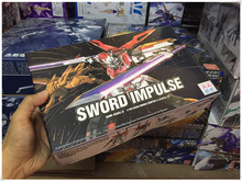 цена на Japanese Anime Gaogao Gundam 13cm HG1/144 Sword Impulse ZGMF-X56S hot kids toy action figures assembled In Boxed