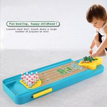 Mini Desktop Bowling Game Set Kids Children Developmental Toy Gift Table Sports Educational