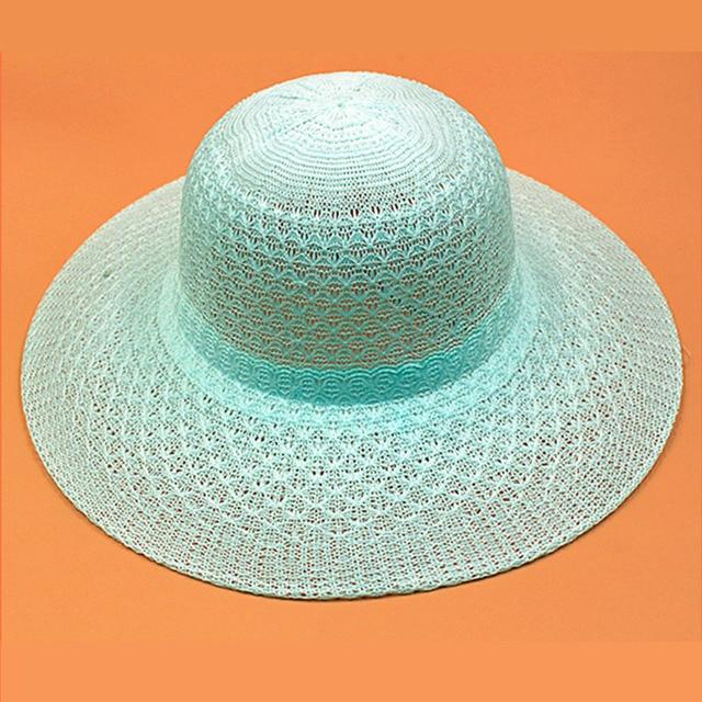 690becb9de5 2018 Hats Women Wide Large Brim Floppy Summer Beach Sun Hat Straw Hat  Bowknot Cap Summer