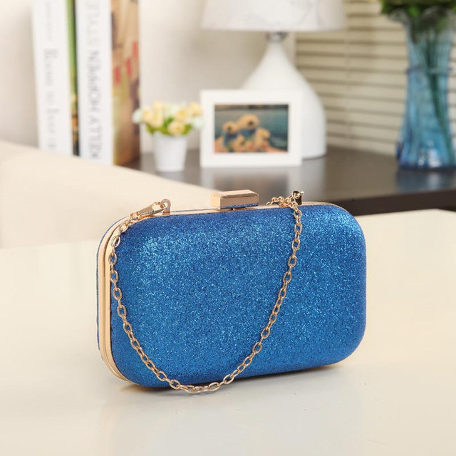 Fashion Women Clutch Box Evening Party Glitter Chain Hand Bags Wallet Ladies hasp party handbags small bags bolsa feminina 1